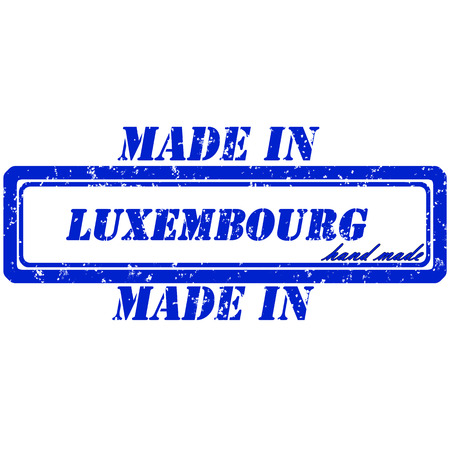 Rubber stamp made in luxembourg hand made Vector