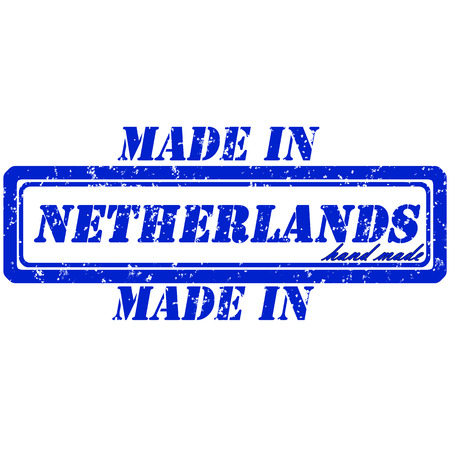 made in netherlands: Rubber stamp made in netherlands hand made
