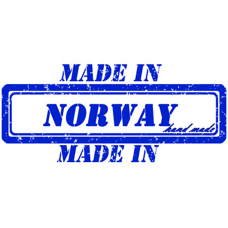 Rubber stamp made in norway hand made Illustration
