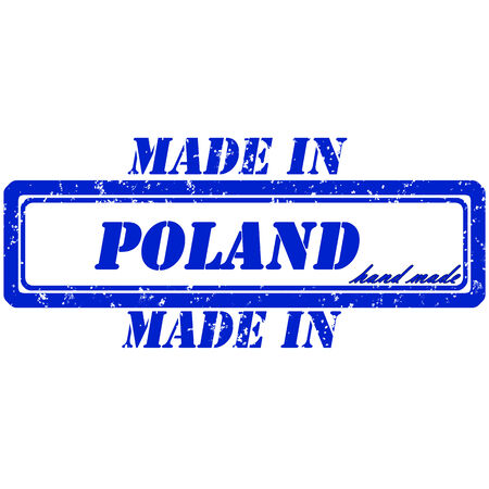 Rubber stamp made in poland hand made Vector