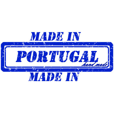 Rubber stamp made in portugal hand made Vector