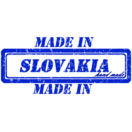 Rubber stamp made in slovakia hand made Vector