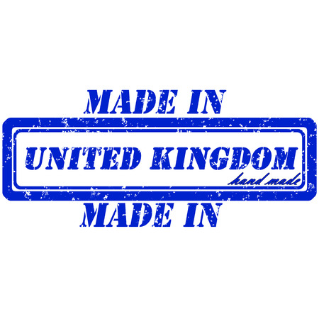 Rubber stamp made in united kingdom hand made Illustration