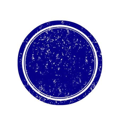 Empty blue round grunge stamp illustration  Illustration