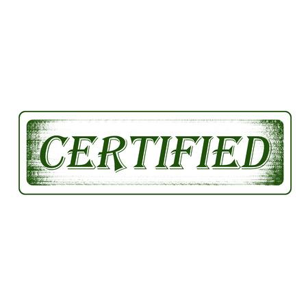 categorized: Grunge rubber stamp certified
