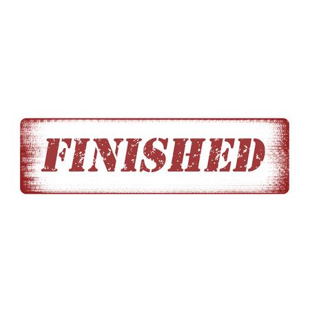 finished: Grunge rubber stamp with word finished inside,vector illustration  Illustration