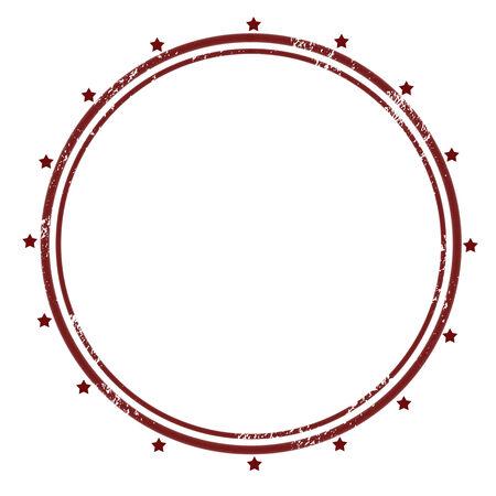 Blank rubber stamp isolated on white background illustration. Illustration