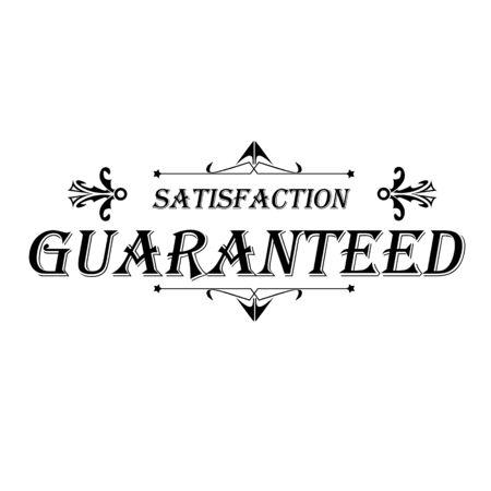 Satisfaction Guaranteed Label on white illustration