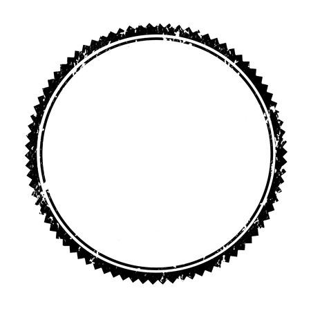 goma: Sello de goma en blanco sobre fondo blanco Ilustraci�n Vectores