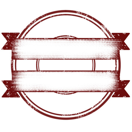 Blank red stamp with double ribbon illustration Illustration