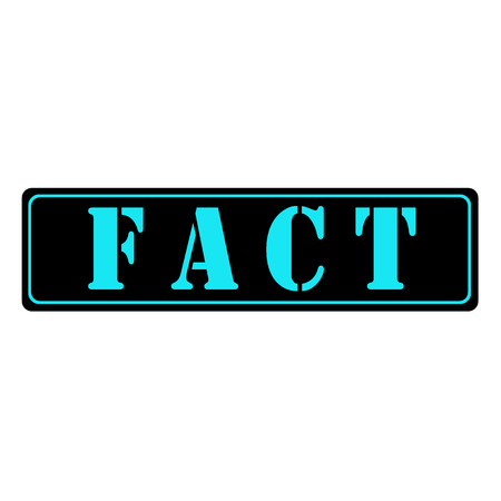 fact: Blue text on Black fact illustration