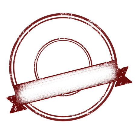 Red empty rubber stamp with ribbon illustration Illustration