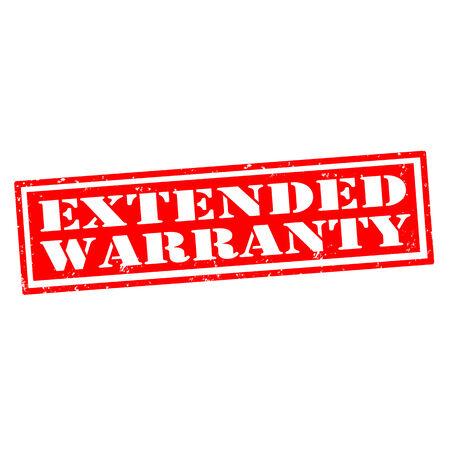 Rubber stamp extended warranty red, vector illustration