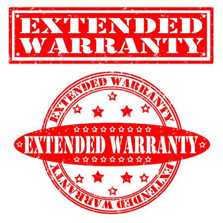 Set grunge rubber stamps extended warranty, vector illustration