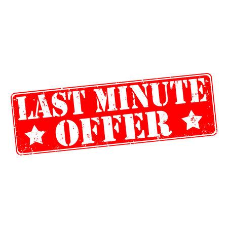 Last minute offer rubber stamp, vector illustration Illustration