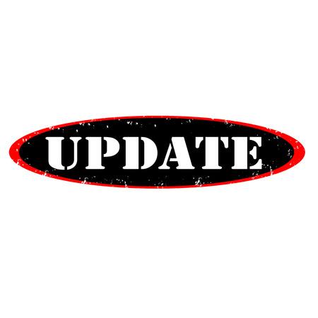 Update label stamp, on white background, vector illustration Illustration