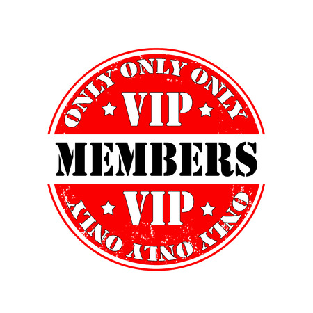only members: rubber stamp only vip members, vector illustration Illustration