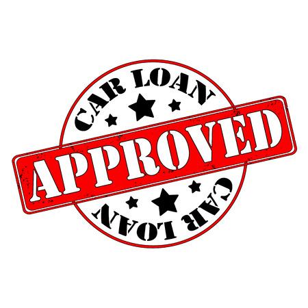 approved stamp: Sello de pr�stamo de coche aprobado, etiqueta, ilustraci�n vectorial Vectores