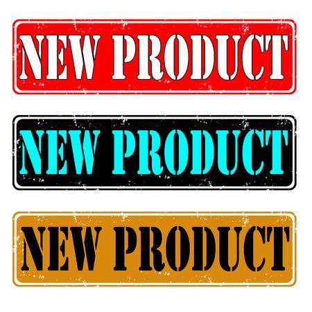 Set of grunge rubber stamps new product, vector illustration Illustration