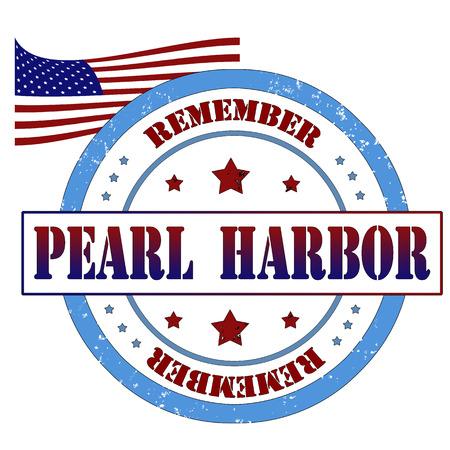 Pearl harbor grunge rubber stamp, vector illustration