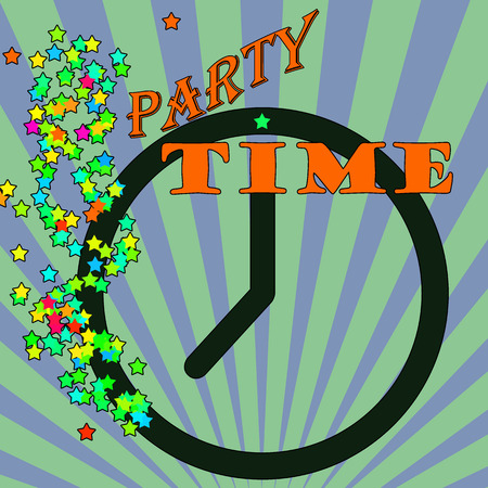 Abstract background with the text party time written inside, vector illustration