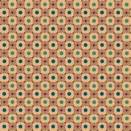 Background pattern light brown with green dots vector illustration