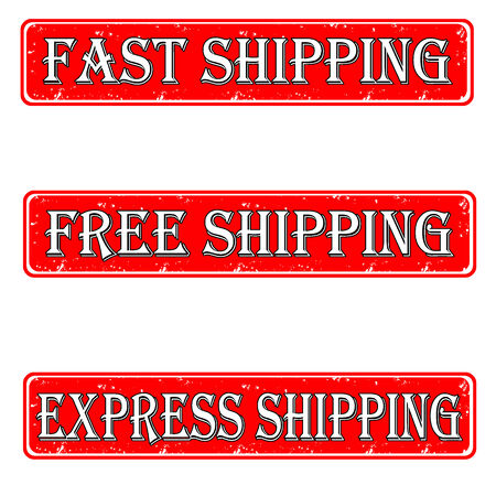 Set of stamps free, fast, express shipping