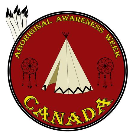 Aboriginal awareness week sign, label