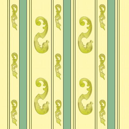 Elegant gold and green floral,vector illustration Illustration