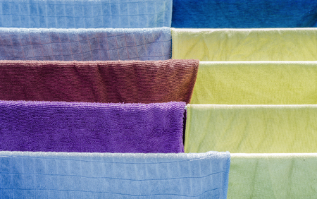 drying: multicolor of fabric on drying