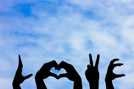 wholesome: The hand symbol for the word love represented by Love the bright and wholesome.