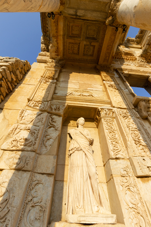 Public places  ephesus library in the historic city of Turkey. Stock Photo
