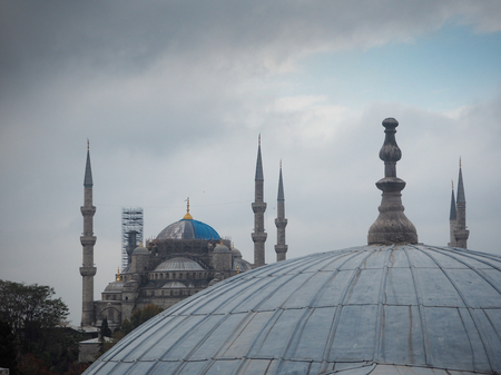 Public places blue mosque in the historic city of Turkey.