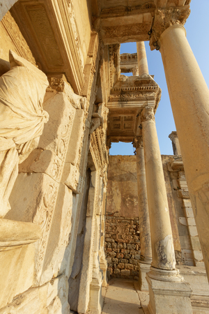 Public places ephesus library in the historic city of Turkey.