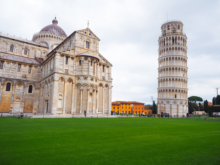 Tourists like to go to the Tower of Pisa, Italy.