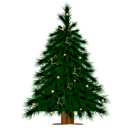 Christmas tree vector art Vetores