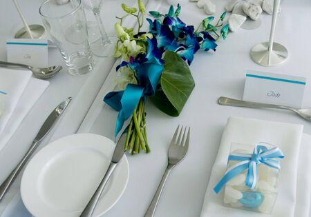 crockery: Bridal Table Stock Photo