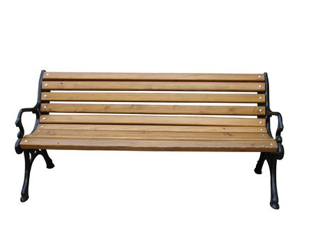 Wooden benchq shooted in the park Stock Photo - 2767302