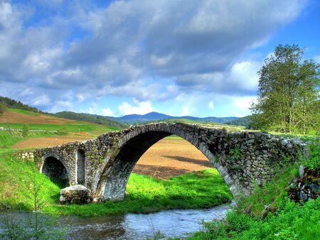 Old Turkish bridge in mountain Rhodopi