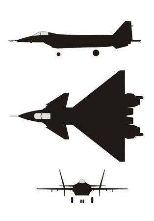 Silhouette de jet-fighter 1.42 MIG