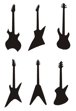 lead guitar: Vector illustration of electric guitar                   Illustration