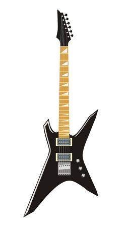 heavy metal music: Illustrazione vettoriale di chitarra elettrica  Vettoriali