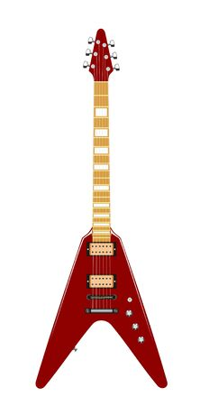 Vector illustration of electric guitar Illustration