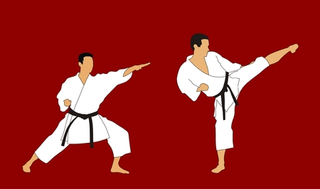 kata: Martial arts Illustration