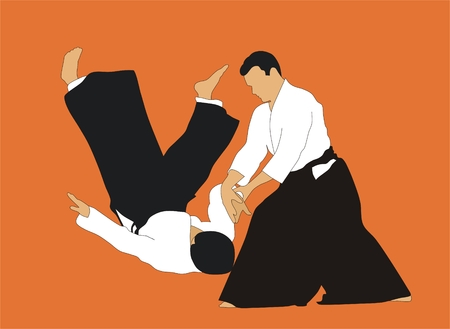 illustrating: Aikido Vettoriali