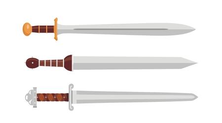 ancient roman: Swords Illustration