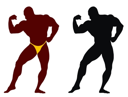 Abstract vector illustration of bodybuilder Stock Vector - 3647341