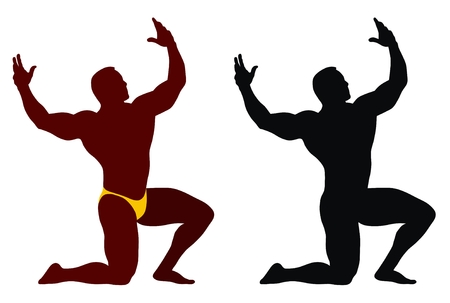 Abstract vector illustration of bodybuilder Stock Vector - 3647334