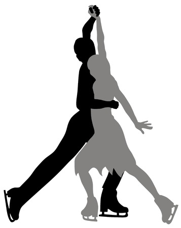 figure skating: Abstract vector illustration of figure scating pair Illustration