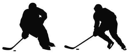 Abstract vector illustration of hockey player silhouette Vector